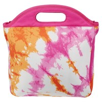 Gear-Up Pink Tie-Dye Tote Lunch Bag