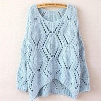 Blue Short After Long Before Sweater