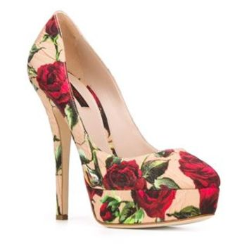 Dolce & Gabbana Rose Print Brocade Pumps - Julian Fashion - Farfetch.com