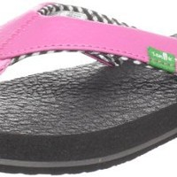 Sanuk Yoga Mat Pink Youth Girls Sandal (X-Large)