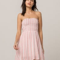 GYPSIES & MOONDUST Stripe Smocked Tube Top Dress