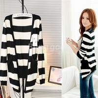 Girls's Black and White Cardigan Long Sleeve Sweaters Free Shipping!  - US$9.50