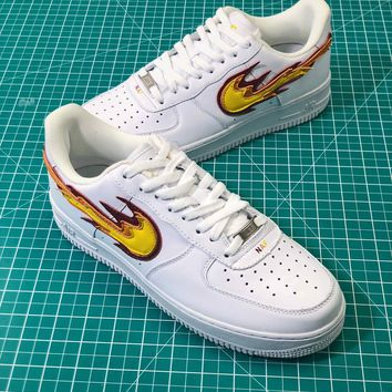 Nike Air Force 1 Af1 Low Flame Logo Sport Fashion Shoes Sale