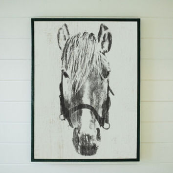 "Framed ""Dolly"" Horse Head - The Magnolia Market"