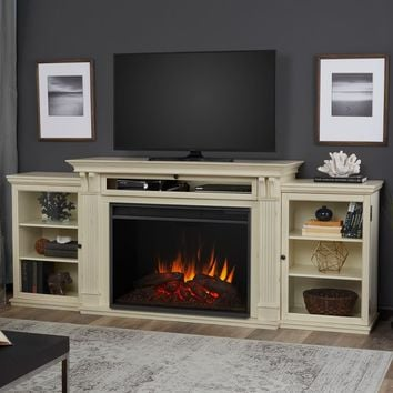 "Grand Tracey 84"" TV Stand with Fireplace"