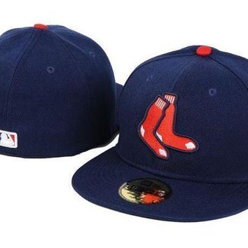 Boston Red Sox New Era Mlb Authentic Collection 59fifty Hats Blue Red