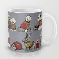 vintage chums Mug by Sharon Turner