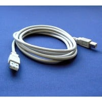 Epson Stylus NX430 6 Feet Color Inkjet Printer Compatible USB 2.0 Cable Cord for PC, Notebook, Macbook - White