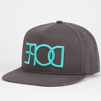 Dope Reverse Logo Mens Snapback Hat Grey One Size For Men 25322211501