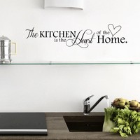 """""""Kitchen is Heart of the Home"""" Wall Sticker"""
