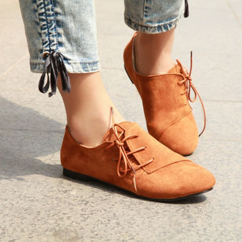 Lovely Side Lace Up Single Boots Shoes
