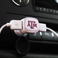 NCAA Texas A&M Aggies Car Charger, White