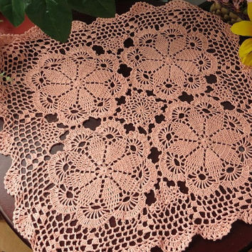 Handmade Crochet  Tablecloth/table mat 23.6x23.6 inches