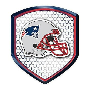 MDIGOK8 New England Patriots Shield Reflector Emblem Decal Sticker Auto Home Football