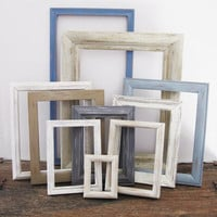Empty Picture Frame Set Of 10 Rustic Beach Wall Decor