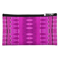 bright pink pattern cosmetic bags