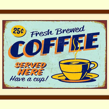 Metal Wall Art, Coffee Wall Art, Coffee Wall Decor, Coffee Sign, Coffee