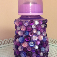 Purple Rhinestone Baby Bottle
