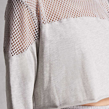 Open-Knit Panel Crop Top