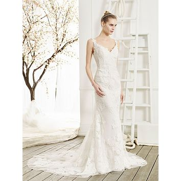 Beloved by Casablanca Bridal Sanguine Lace Tank Fit & Flare Sample Sale Wedding Dress