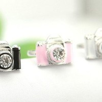 FREE SHIPPING Pink Camera Ring Womens Teen Girls from Handmade & Handpicked Boutique