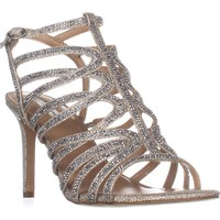 I35 Gawdie Sparkle Strappy Evening Sandals, Champagne, 7.5 US / 37.5 EU