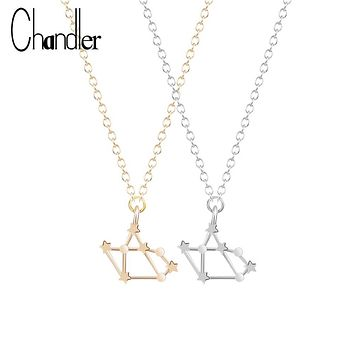 Sagittarius Zodiac Sign Astrology Necklace Constellation