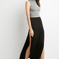 Layered M-Slit Maxi Skirt