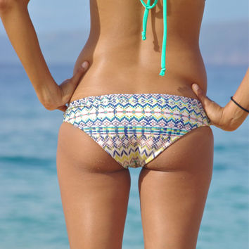 Paia: REVERSIBLE Moderate Bikini Bottoms -1) Choose Style 2) Choose Fabric, 3) Choose Size