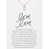 Women's Dogeared 'Danielle LaPorte Truthbombs - Love Love' Necklace