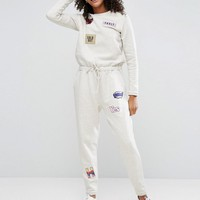 ASOS Jumpsuit with Customised Badges at asos.com