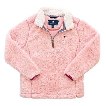YOUTH Sherpa Pullover with Pockets in English Rose by The Southern Shirt Co. - FINAL SALE