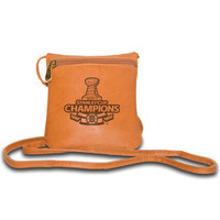 Pangea Tan Leather Womens Mini Handbag - 2011 Stanley Cup Champions Boston Bruins