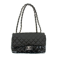 Black Patent Leather Jumbo Purse