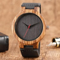 Top Gift Wood Watches Men's Unique 100% Nature Wooden Bamboo Handmade Quartz Wrist Watch Male Sport