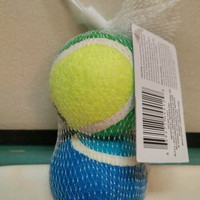 Dog Toy Tennis balls for dogs 2 piece set pet paw graphic. New in package