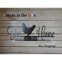 The Chicken House Sign