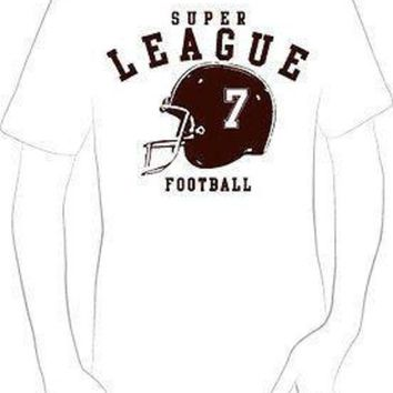 VLX9RV LEAGUE 7 SPORTS FOOTBALL HELMET T-SHIRT jersey sports nfl NEW HOT - A10