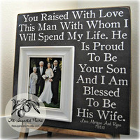 Parents of the Groom Gift, Mother of the Groom, Father of the Groom, Parents Thank You Gift, Wedding, Personalized Picture Frame 16x16