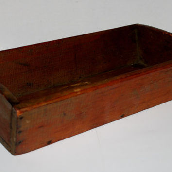 Antique Hand Crafted Wood Bread Serving Dish, 1930s Depression Era.