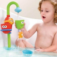 Baby Gift Cartoon Yookidoo Flow Fill Spout Bath Toy Learning Fun Toy Set (Color: Multicolor) = 1946406852