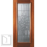 Slab Home Single Door 80 Mahogany Courtlandt Full Lite Glass