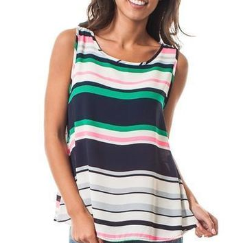 Stripe loose fit tank top