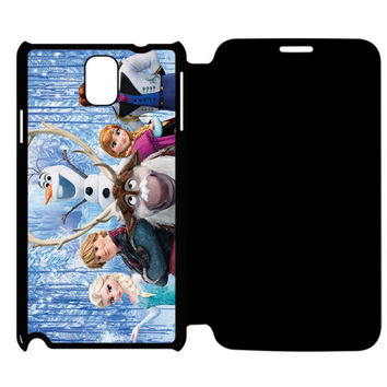 Frozen Olaf Samsung Galaxy Note 4 Flip Case Cover