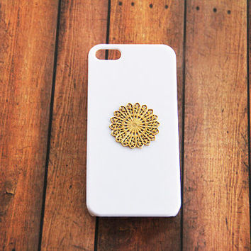 iPhone 5 Case Mandala Hippie iPhone Case Hipster iPhone Case iPhone 4 4s White Case iPhone 5 5s 5c Mandala Simple Samsung S3 S4 White