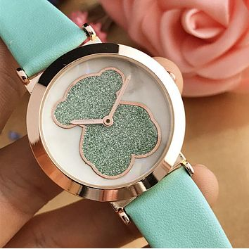 Tous Dazzle Colour Series Summer Ladies Lovely Shiny Bear Movement Watch Wrist Watch Mint Green I12599-1