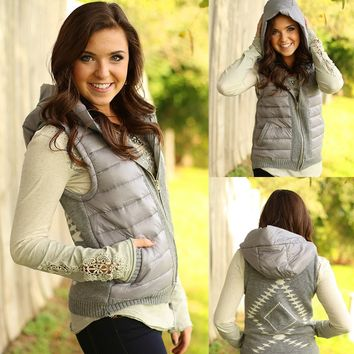 Hitting The Slopes Puffer Vest