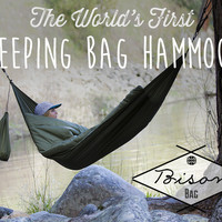 The World's First Sleeping Bag Hammock || Bison Bag