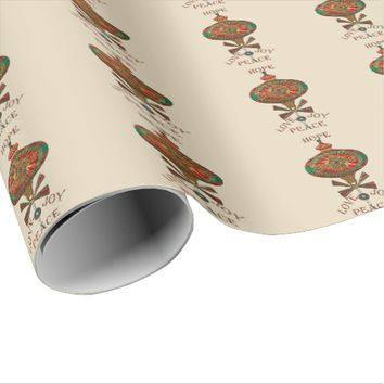 Holiday Ornament Wrapping Paper