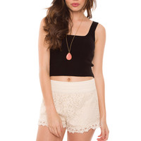 Free Will Lace Shorts